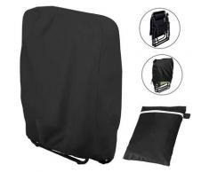 Housses de Chaise Résistantes Aux UV Noir Housse de Protection Pliable pour Chaise Longue