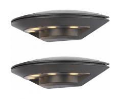2x appliques extérieures LED balcon ALU lumières de terrasse anthracite