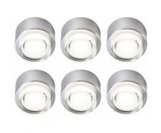 Etc-shop - Lot de 6 spots LED plafonniers en saillie salon travail down lighting spots spots rond