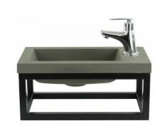 Toilette Meuble Salle de Bain Mesa 40x22 cm Vert - Lavabo Armoire Toilette