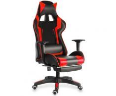 Chaise de Bureau Fauteuil Gaming Jeu Ergonomique Inclinable 155 °Rouge