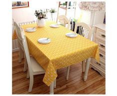 Nappe rectangulaire en coton et lin, nappe à carreaux, nappe anti-poussière, table de cuisine et