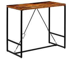 Table de bar Bois recyclé solide 120 x 60 x 106 cm - True Deal