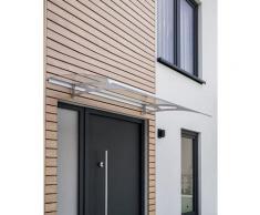 Auvent marquise de porte, 160 x 90 cm, Style Plus, polycarbonate transparent, fixations inox,