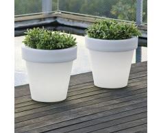 Pot de fleurs lumineux 90 Solaire+Batterie rechargeable - Moovere