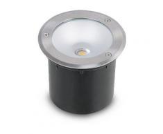 Spot encastré sol LED COB 3W(30W) IP65 Blanc neutre 4500°K Rond