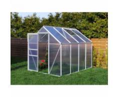 Serre de jardin 4.75 m² en aluminium - 190x250 cm