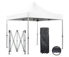 Barnum pliante 3x3m 50mm en aluminium premium PRO 520Gr/m2 étanche blanche tente de Réception