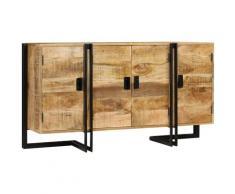 Helloshop26 - Buffet bahut armoire console meuble de rangement bois de manguier massif 150 cm - Bois