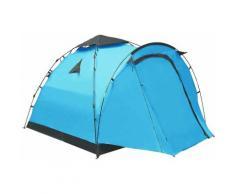 Tente de camping escamotable 3 personnes Bleu HDV47594 - Hommoo