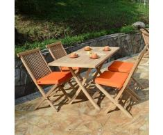 Teck'attitude - Table pliante rectangulaire en teck Ecograde Kensaï 120 x 70 cm - Naturel