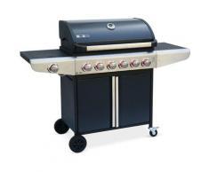 Alice's Garden - Barbecue au gaz - Bazin 6 Gris anthracite - Cuisine extérieure 6 brûleurs + 1 feu