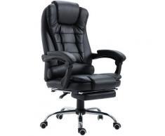 Fauteuil de bureau fauteuil manager grand confort dossier inclinable roulettes P.U 65 x 69 x 127 cm