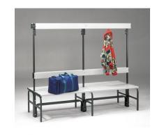 Banc pour vestiaire en acier, pour environnements humides - h x p 1600 x 695 mm - L 2000 mm, sans