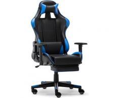 Intimate Wm Heart - Chaise de Bureau en Similicuir Chaise Gaming avec Repos-Pieds Fauteuil Gaming