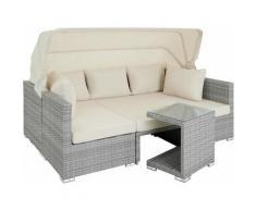 Tectake - Canapé de jardin SAINT MARIN modulable - table de jardin, mobilier de jardin, fauteuil de