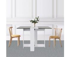 Oobest - Table Pliante avec 2 Abattants, en Panneaux de Particules Melaminés, 103/67/28x76x73,4