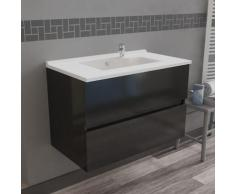 Caisson simple vasque 80 - Gris brillant - Rosaly