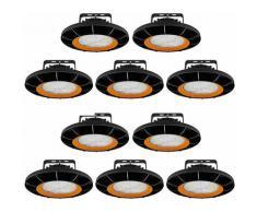 10× 200W UFO Projecteur LED Dimmable Projecteur LED d'éclairage Industriel Suspension IP65 Phare de