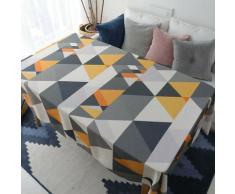 Nappe motif triangle géométrique, nappe rectangulaire, nappe polyvalente pour table basse, salon et