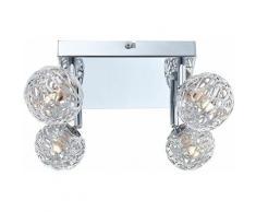 Etc-shop - Plafonnier lampe de chambre à coucher Spot boule spot orientable dans l'ensemble avec 4x
