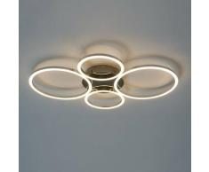 Plafonnier design LED 4 cercles - Paciano