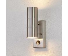 Lindby - Lampe Exterieure Detecteur De Mouvement 'Eyrin' en inox
