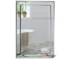 MOOD Magnifique Miroir de Salle de Bain rectangulaire avec étagère, Moderne et élégant, Double