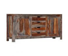 Helloshop26 - Buffet bahut armoire console meuble de rangement gris 160 cm bois de sesham massif