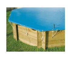 Bâche d'hivernage pour piscine bois Ubbink hexagonale Modèle - Sunwater / Azura 4,10m hexagonale
