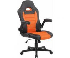 CLP - Fauteuil de bureau John noir/orange