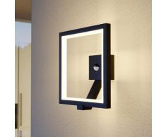 LED Lampe Exterieure Detecteur De Mouvement 'Square' en aluminium