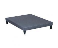 OLYMPE LITERIE | Sommier tapissier en kit | gris ciment | 160x200 cm