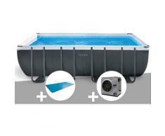 Kit piscine tubulaire Intex Ultra XTR Frame rectangulaire 5,49 x 2,74 x 1,32 m + Bâche à bulles +