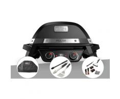 Barbecue électrique Weber Pulse 2000 + Housse + Kit ustensiles 3 pièces Better + Kit de nettoyage