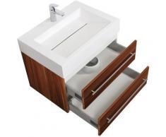 Meuble de salle de bain Design 700 Noix Satiné