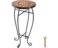 Table de Jardin, d'Appoint, de Balcon, de Bistrot, Table de Terrasse en Mosaïque 30 cm x 30 cm x
