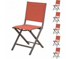 Chaise de jardin Terra terracotta (lot de 6)