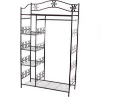 Portemanteau / garderobe / étagère / penderie / patère Genève, 100x43x172cm, métal