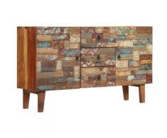 Helloshop26 - Buffet bahut armoire console meuble de rangement bois de récupération solide 140 cm