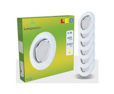 Lot de 30 Spot Led Encastrable Complete Blanc Lumière Blanc Neutre 5W eq.50W ref.770