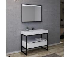 Meuble de salle de bain LAMEZIA 1000 Blanc