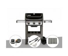Barbecue gaz Weber Spirit II E-310 + plancha + Thermomètre iGrill 3 + Kit ustensiles 3 pièces
