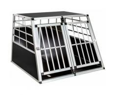 Cage de transport pour chien double dos droit 97 x 90 x 69,5 cm