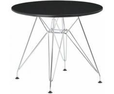 Sklum - Table Scand Brich [KIDS!] Ø60 cm Métallisée ENFANTS - Chromé Noir