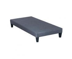 OLYMPE LITERIE | Sommier tapissier en kit | gris ciment | 90x190 cm