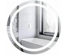 Oobest - Wihhoby Miroir Salle de Bain avec Éclairage Circum 70cm(?) 20W Miroir Mural Rond LED