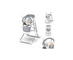 NILES 3en1 Balancelle motorisée et connectée + Chaise haute + Transat