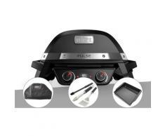 Barbecue électrique Weber Pulse 2000 + Housse + Kit ustensiles 3 pièces Better + Plancha
