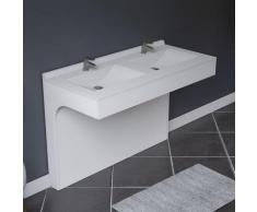 Caisson double vasque 120 - Blanc brillant - Epure